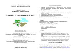 instytut inżynierii środowiska - Inżynieria i Kształtowanie Środowiska