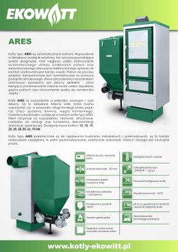 Kocioł ARES - folder A4 - kotły
