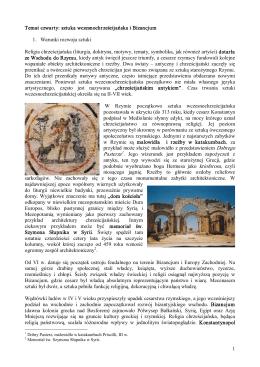 sztuka wczesnochrześcijańska i Bizancjum