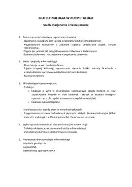 BIOTECHNOLOGIA W KOSMETOLOGII