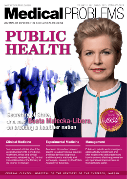 HEALTH PUBLIC - Medical Problems