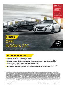 sportowy Opel Insignia OPC - Dixi-Car