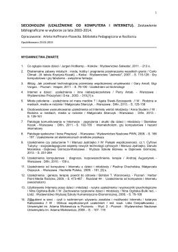 SIECIOHOLIZM (UZALEŻNIENIE OD KOMPUTERA I INTERNETU).