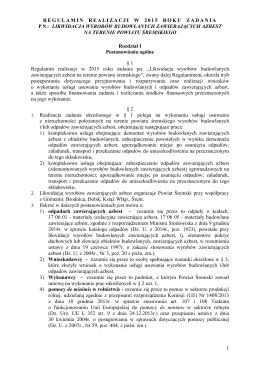 Regulamin realizacji zadania w 2015 r.
