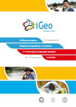 XI Międzynarodowa Olimpiada Geograficzna w Krakowie 11th