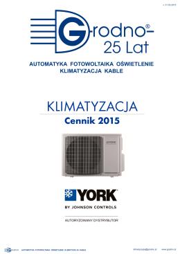 Cennik Klimatyzacja YORK 03_31 2015 GRODNO SA