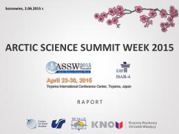 arctic science summit week 2015