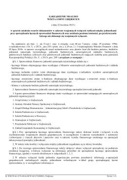 Zarządzenie nr 62.2015