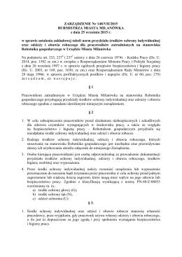 ZARZĄDZENIE Nr 148/VII/2015 BMM z dnia 25