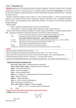 Ćw 7. Matlab (1)