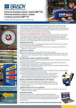 Kolorowa drukarka znaków i etykiet BBP™35