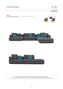 Model: Palermo design: by sliwinski Wymiary Nasze meble są