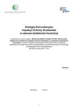 Strategia Komunikacyjna Inspekcji Ochrony - GIOŚ