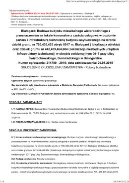 Ogłoszenie o udzieleniu zamówienia - BIP BTBS