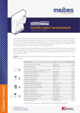 Cennik części serwisowych Logoterm