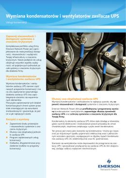 Wymiana kondensatorów i wentylatorów