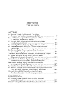 SPIS TREŚCI TWP 9,1 (2015)