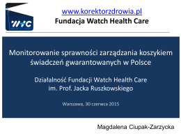 Fundacja Watch Health Care