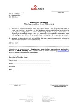 Oświadczenie - ORLEN Asfalt