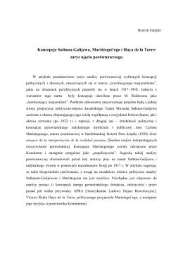 Koncepcje Sułtana-Galijewa, Mariátegui`ego i