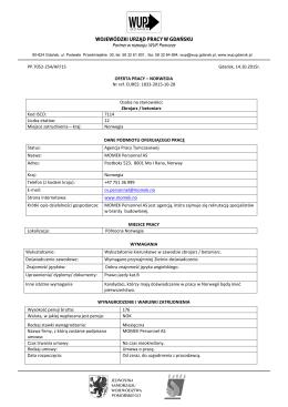 oferta pracy nr 254/2015 zbrojarz / betoniarz