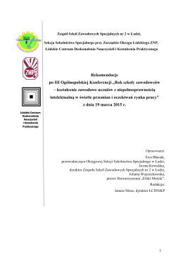 ZOBACZ pełną treść dokumentu - Zarząd Okręgu Łódzkiego ZNP
