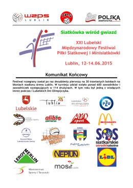 Komunikat końcowy XXI Międzynarodowego Festiwali Piłki