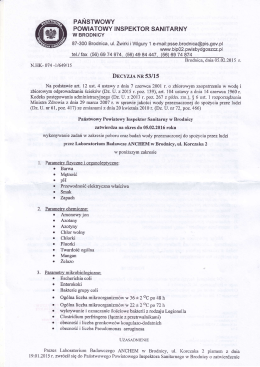 Państwowego Powiatowego Inspektora Sanitarnego w Brodnicy
