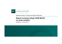 Raport CashBack - Polskie Karty i Systemy