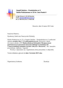 REGULAMIN - Zespół Szkolno-Przedszkolny nr 5