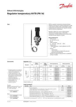 Regulator temperatury AVTB (PN 16)