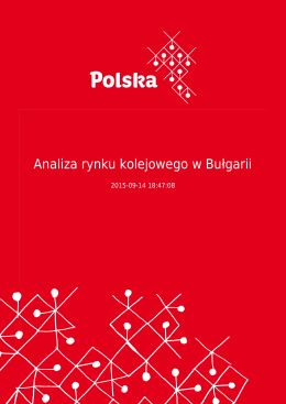 Analiza rynku kolejowego w Bułgarii