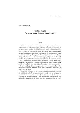 Fizyka a magia: W sprawie oddziaływań na odległość