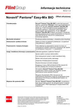 Novavit® Pantone® Easy-Mix BIO
