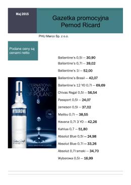 Gazetka promocyjna Pernod Ricard