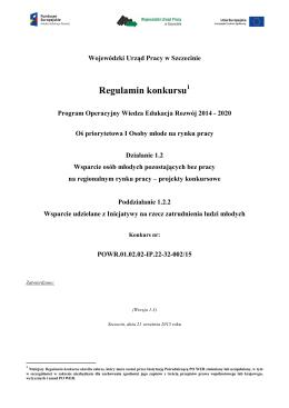Regulamin Konkursu 1.2.2 wersja 1.3