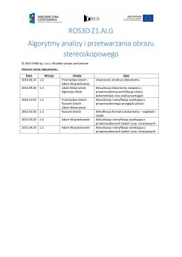 ROS3D Z1.ALG Algorytmy analizy i przetwarzania