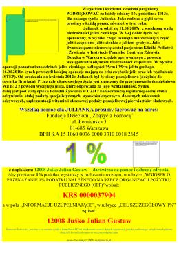 Juśko Juluś 2014 APEL z logo