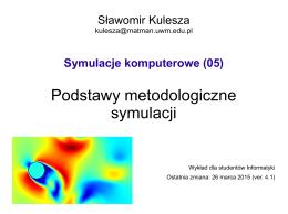 Podstawy metodologiczne symulacji