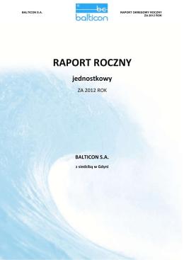 Raport roczny za 2012 rok