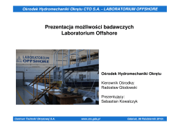 dr inż. Sebastian Kowalczyk - Centrum Techniki Okrętowej