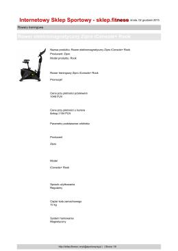 Rower elektromagnetyczny Zipro iConsole+ Rook