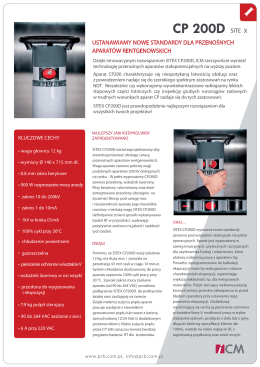 Broszura informacyjna ICM SITEX CP 200D