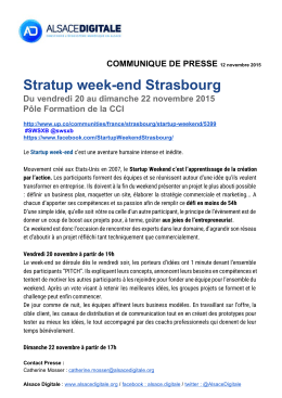 Stratup week-end Strasbourg