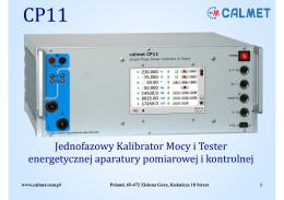 CP11 Kalibrator mocy i tester