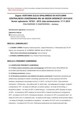 ZP/13/15/DTO - Wojskowy Instytut Łączności