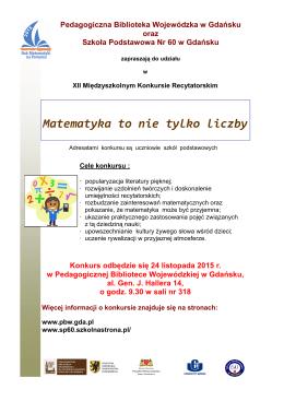 Matematyka to nie tylko liczby - Pedagogiczna Biblioteka Wojewódzka