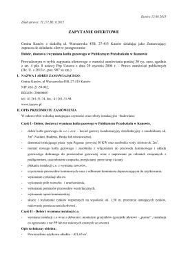 Zapytanie ofertowe (*) - Kunów, Urząd Miasta i Gminy