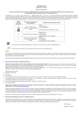 OBWIESZCZENIE Konsula RP w Atenach z dnia 25 września 2015 r