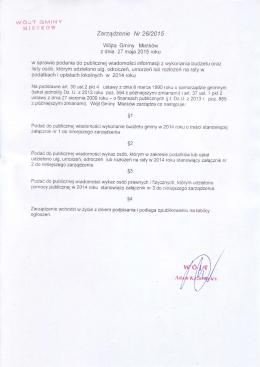 026/2015 - Biuletyn Informacji Publicznej